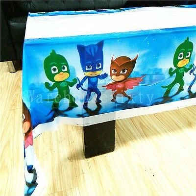 PJ MASKS Disposable Tablecloth. Birthday party decorations. Buy Bulk & Save