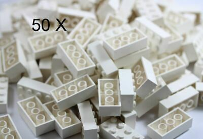 LEGO® Brick, 2 X 4 White 50 X Bricks of Part 3001 MOC