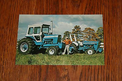 Ford Tractor 30 to 130 HP Ford Blue is Better Advertising Postcard