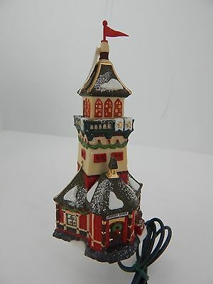 Dept 56 North Pole Series Santa's Lookout Tower Lit Ornament #98773 New
