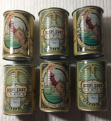 Deep Eddy Lemon Vodka Yellow Tin Cups - Set of 6