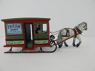 Dept 56 New England Village Dairy Delivery Sleigh #56622 D56 Good Condition