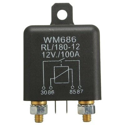 12V 100Amp 4-Pin Heavy Duty ON/OFF Switch Split Charge Relay For Auto Boat O4M2