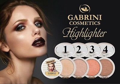 GABRINI GORGEOUS Highlighter FACE SHIMMER COMPACT POWDERS 4 SHADES
