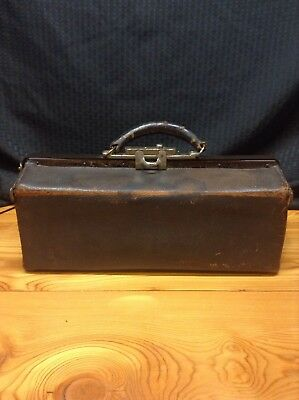 "Antique Dr. House Call Bag Leather ""The rexall  Store"" Henderson Drug Co. Inc."