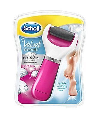 Scholl Velvet Smooth Express Pedi Foot File With Diamond Crystals pink uk