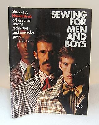 1973 Sewing For Men & Boys by Simplicity How to Make Jackets Pants More!  Book