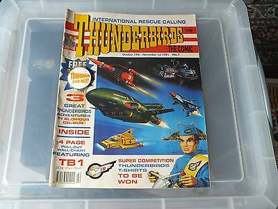 THUNDERBIRDS The Comic - Issue No 1 1991 - Free gift attached- GOOD CONDITION