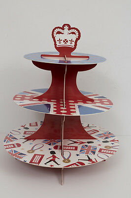 """Sainsbury"" Red 3 Tiered Cupcake Stand. Brand New in Packet! Bargain Price!"