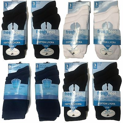 Unisex 6 Pairs Kids Children Girls Boys Socks Cotton Rich Casual School Wear
