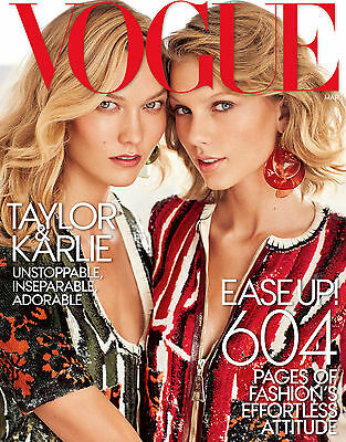 VOGUE Magazine American March 2015, Karlie Kloss and Taylor Swift NEW