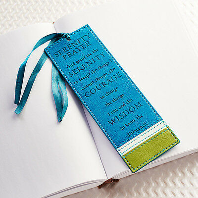 SERENITY PRAYER Bookmark Page Marker Faux Leather Christian Art Gifts