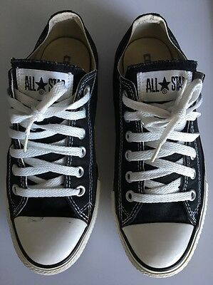 Converse All Star Chuck Taylor Low Top Black Men's Size 5 Women's Size 7