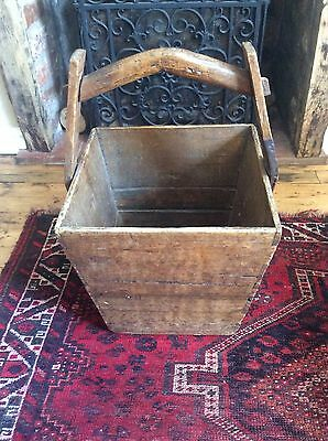 Antique Rice Bucket great for logs by the fireside etc