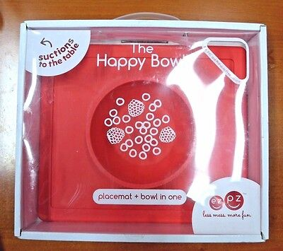 ezpz Happy Bowl, One-Piece Silicone Suction Placemat + Bowl in One - Cora (s195)