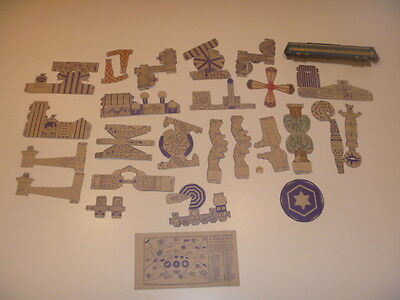 Vintage Nabisco Toytown Carnival #36 Layout Card + LOTS Pieces 1946