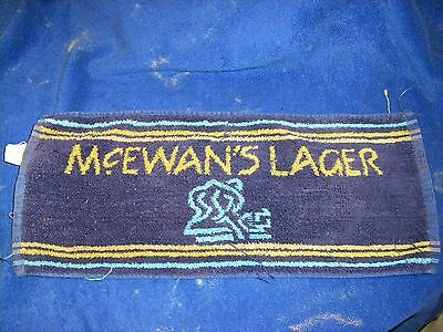 McEwans Lager Beer Bar Towel Golf Hand Vintage Cotton Collectible