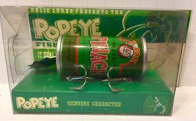 Rare Popeye Spinach Green Fishing Lure By Relic Lures