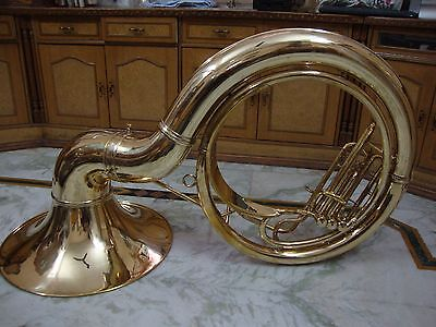 WOW EXQUISIT NEW Bb FLAT BRASS FINISH SOUSAPHONE TUBA+FREE CARRY CASE+MOUTHPIECE
