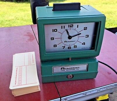 Acroprint Heavy Duty Automatic Time Recorder 125NR4