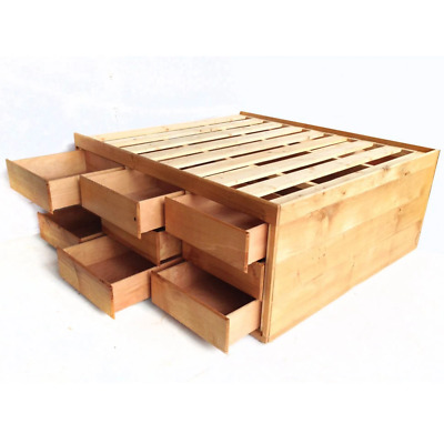 High Storage Oak Bed, Perfect space saving bedroom furniture