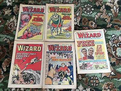 Bundle, Lot of 5 The Wizard Comic's 1973 / 1974