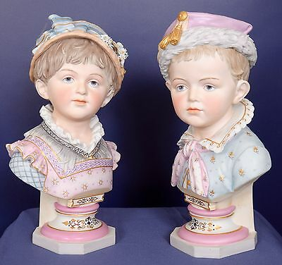 Pair Antique French Figurines signed R. Molister outstanding modeling