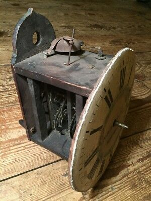 old Postmans Black Forest Clock Wag On The Wall Shield Clock Steempunk Project
