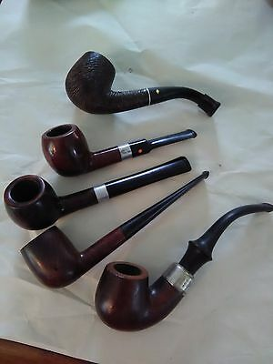 Nice Vtg Estate Pipe Lot of 5 Smoking Pipes Trapwell / Dr Grabow / Wellington /
