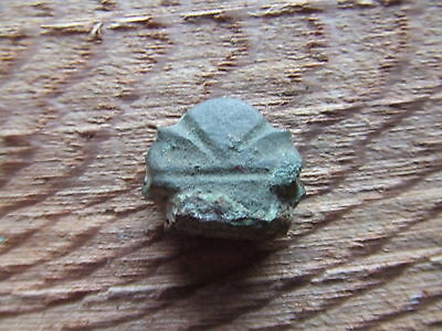MEDIEVAL BRITAIN.  DECORATIVE BRONZE KNIFE TERMINAL.    13th/14th CENTURY