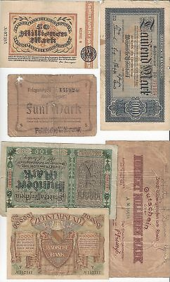 Germany 6 Local Notes  Grade  Vg-Vf