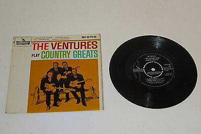 "THE VENTURES PLAY COUNTRY GREATS 1962 LIBERTY UK 1st PRESSING 7"" EP, P/S"