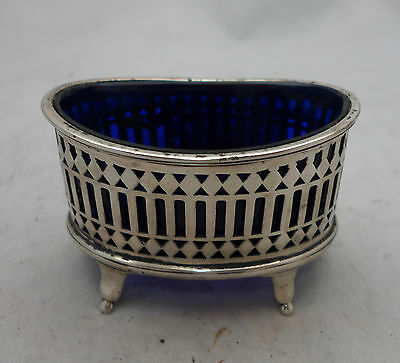 Georgian Style Silver Salt & Liner Stoked & Ireland Chester 1903 45g A614317