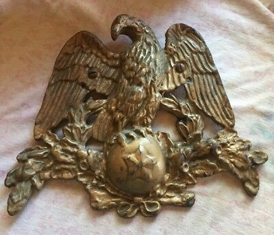 Vintage Solid Brass Victorian Style Figural American Eagle Door Knocker