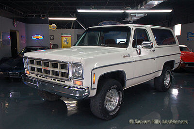 1977 GMC Jimmy K5 4-Wheel Drive GREAT DRIVER, 4x4, White/Red, Removable Top, Similar to Chevy/Chevrolet Blazer