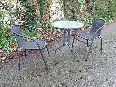 Wicker Bistro Conservatory Table Picclick Uk