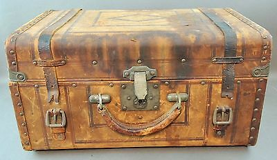 c.1866, Antique Brown Leather Personal Trunk