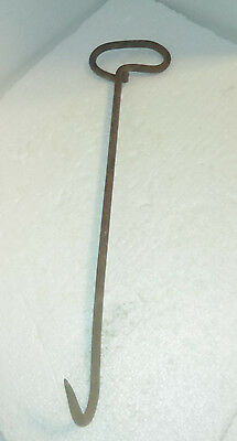 Antique Primitive  Iron Hand Forged Hay Hook