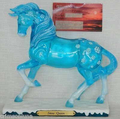 SNOW QUEEN 1E 0315 NEW 2016 Christmas Inspired by Frozen Trail Painted Ponies