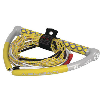 AIRHEAD Bling Spectra Wakeboard Rope 75' 5-Section Yellow AHWR-12BL