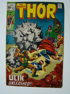 Thor #173 Jack Kirby Art & Circus of Crime Appearance 1970 VG/FN