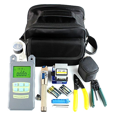 DAXGD 9 In 1 Fiber Optic FTTH Tool Kit with FC-6S Fiber Cleaver and Optical