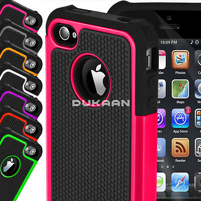 For Apple iPhone 4 4S Protective Dual Layer Shockproof Workman Hybrid Case Cover