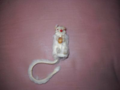 Original Fur W. Germany White Mouse Long Tail