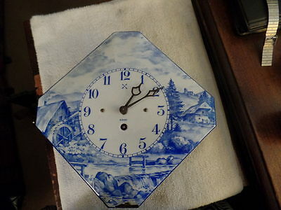 Blue and White Delft Wall Clock 8 Day