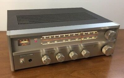 1979 Harman Kardon AM-FM Stereo Receiver Amplifier HK 340 Clean See Video Demo