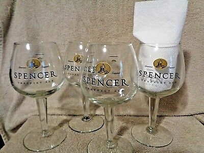 Spencer Trappist Ale Set of FOUR Chalices/Glasses ~ New Old Stock ~ by Libby USA