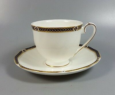 Wedgwood Royal Lapis (Gold Edge) Coffee Cup And Saucer (Perfect)
