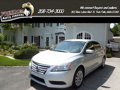 2013 Nissan Sentra SV 2013 Nissan Sentra Silver Sedan Automatic 4 Door Cloth Front Wheel Drive