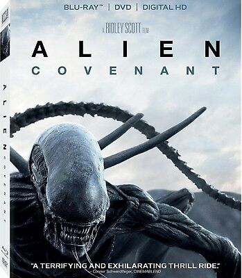 Alien Covenant(Blu-Ray+Dvd+Digital Hd)W/Slipcover Brand New Unopened